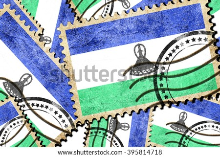 Postal stamp background