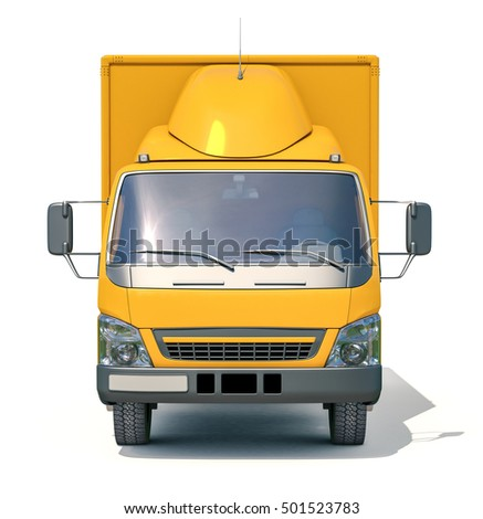 Postal Truck Illustrates the Express Fast Free Home Delivery of Cargo, Home Delivery Icon, Delivery Truck Icon, Transporting Service, Freight Transportation, Packages Shipment, International Logistics