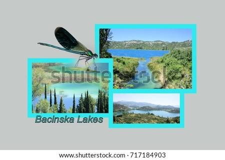Croatia design stock images royalty free images vectors postcard design for the bacina lakes in croatia bacinska jezera in croatian sciox Gallery