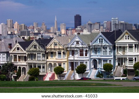 Postcard Row Houses, San Francisco, California