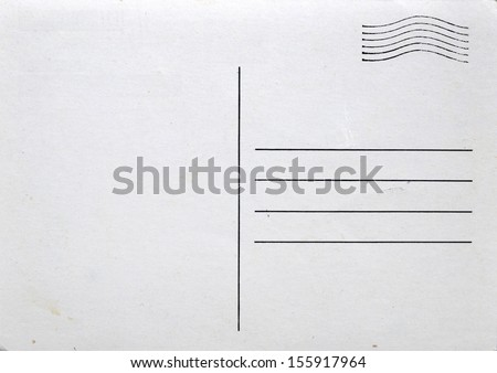 Postcard with postal stamp - stock photo