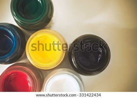poster colour with vintage tone - stock photo