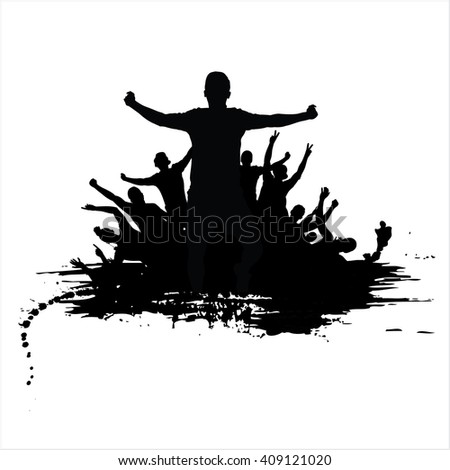 Poster for sports championships and music concerts - stock photo
