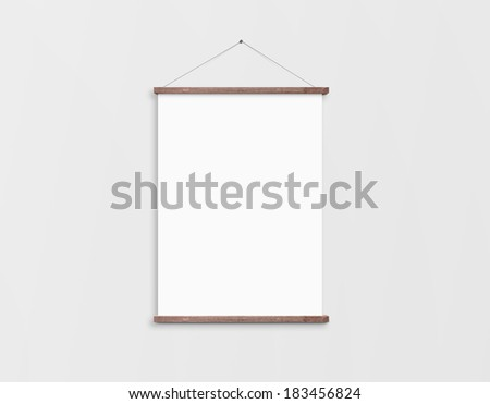 Poster on wall - stock photo