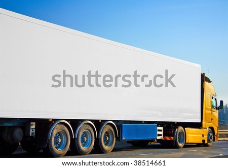 Poster surface truck - stock photo