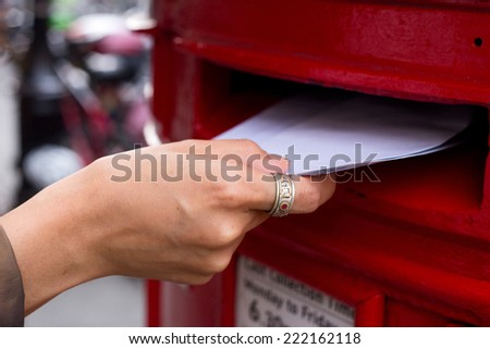 posting letters - stock photo