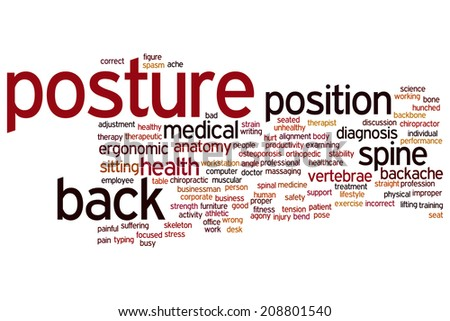 Posture concept word cloud background - stock photo