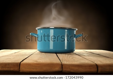 pot and brown space  - stock photo