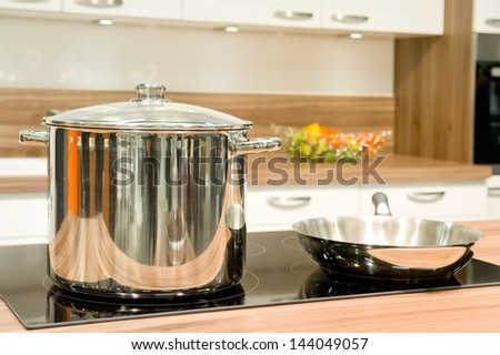 Pot and pan in the kitchen