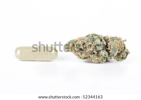 Pot and Pill - stock photo