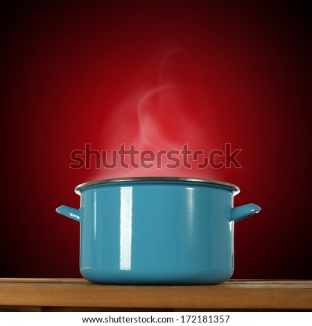 pot and red space