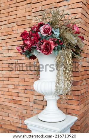 pot flower - stock photo