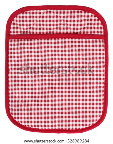 Pot holder lovely red and white plaid with pocket