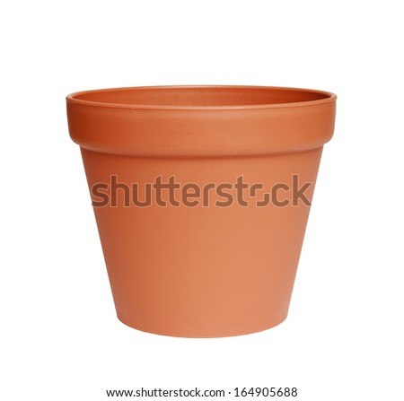 pot isolated on white background.  - stock photo