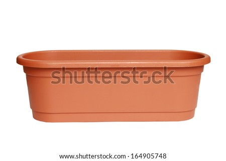 pot isolated on white background.