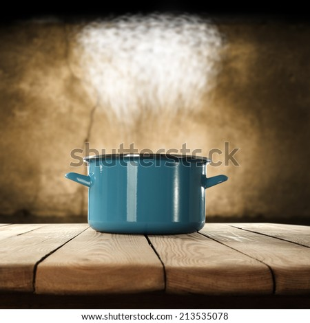 pot of blue  - stock photo