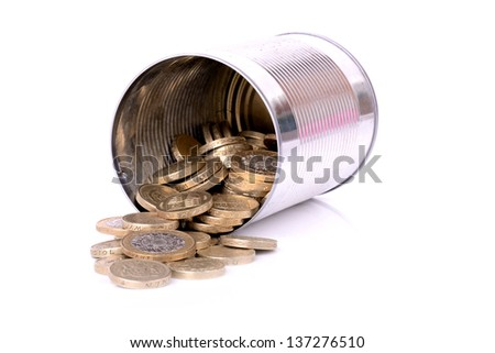 pot of cash, pension pot isolated - stock photo
