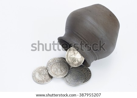 pot of medieval silver coins