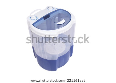 Potable MINI Wash Machine for vacations - stock photo