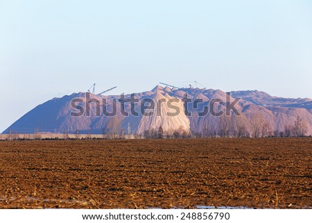 Potash Tailing Hill. - stock photo