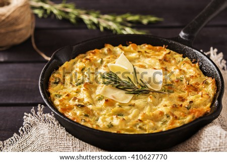 Potato Casserole with cheese  - stock photo