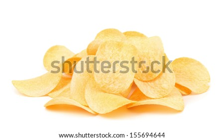 Potato chips. Isolated on a white background.