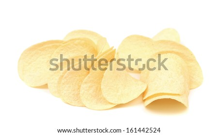 Potato chips. Isolated on a white background