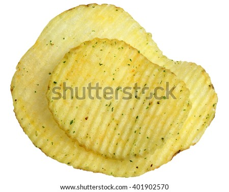 Potato chips it is isolated on a white background