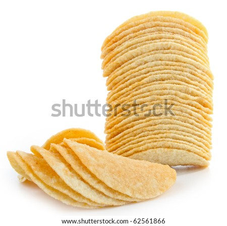 potato chips on white