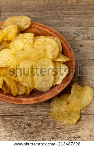 Potato chips. Selective focus.  - stock photo
