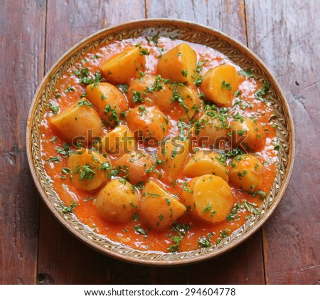 Potato dish - stock photo