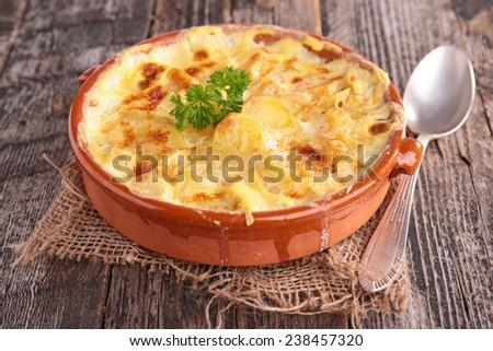 potato gratin - stock photo