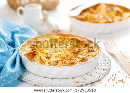 potato gratin - stock photo