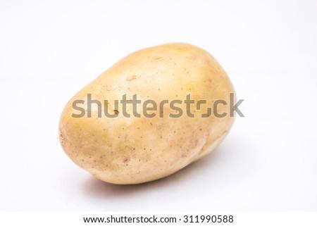 potato isolated - stock photo