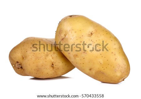 Potato isolated on the white background .