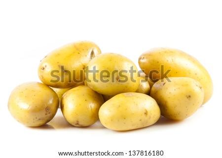 potato isolated on white background - stock photo