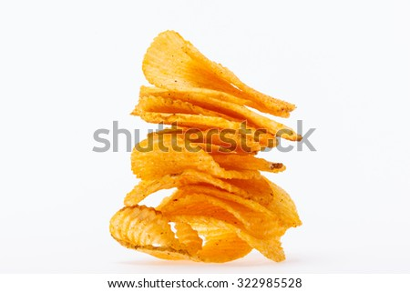 potato plate of fried appetizers like crispy child - stock photo