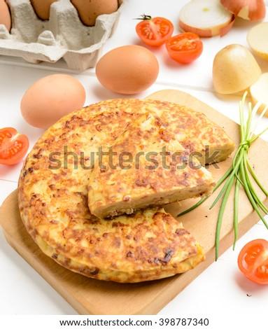 Potato Tortilla, selective focus - stock photo
