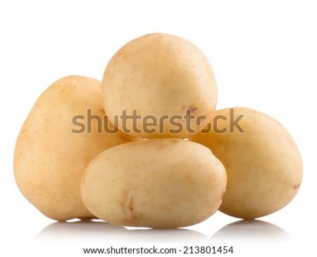 potato vegetables isolated on white  - stock photo