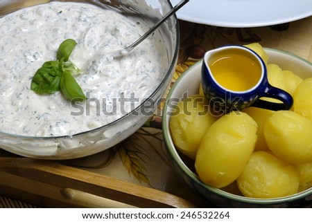 Potato with Curd  - stock photo