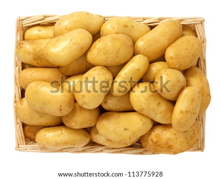 Potatoes in the basket - stock photo