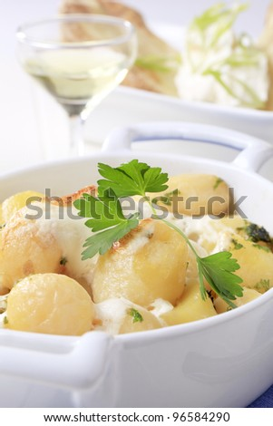 Potatoes with sour cream  - stock photo