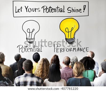 Potential Performance Capacity Motivation Skill Concept - stock photo