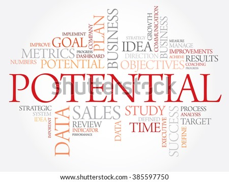 Potential word cloud, business concept - stock photo