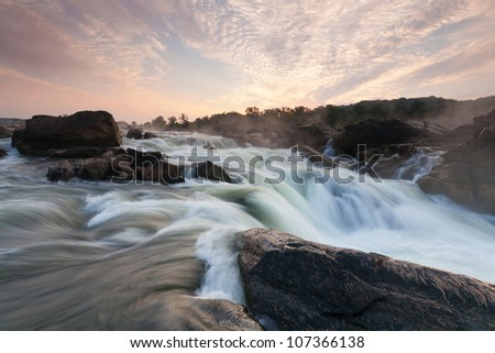Potomac River Gorge at Great Falls in Washington DC Metro Area - stock photo