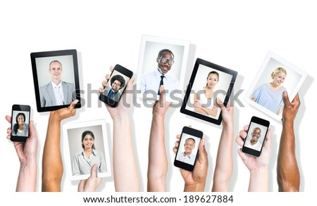 Potraits of Diverse People On Digital Devices