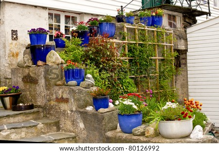 Pots and plants - stock photo