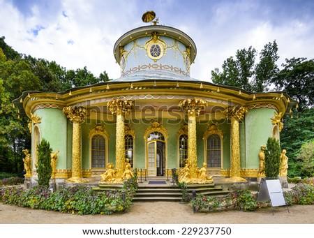 Potsdam, Germany China House tea house. - stock photo