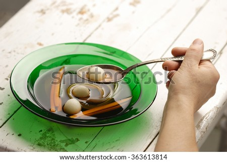 pottage - stock photo