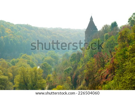 Potter Tower in the Ancient City of Kamyanets-Podilsky, Ukraine - stock photo